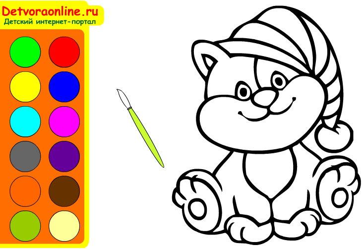 Раскраска онлайн Хелло Китти | Детвора Онлайн