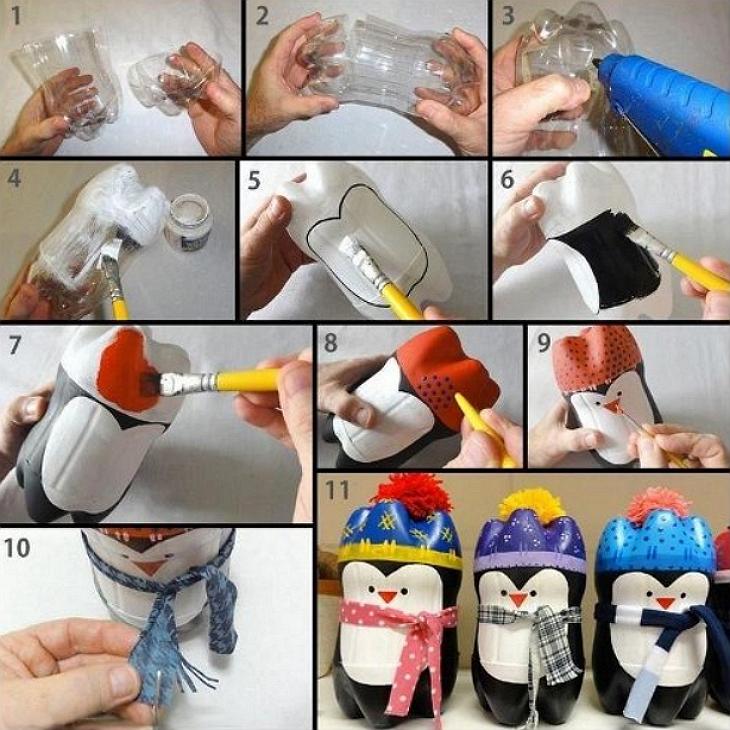 Как делать своими руками поделки из пластиковых бутылок