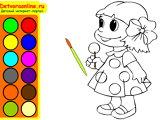 Раскраска онлайн для девочек