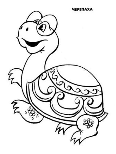 львенок и рисунки черепаха мультфильму к