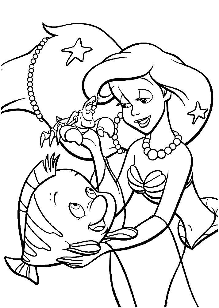 Раскраски русалочка онлайн для девочек