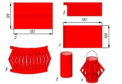 Как сделать из цветной бумаги елочную игрушку
