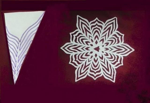 Снежинки из бумаги видео
