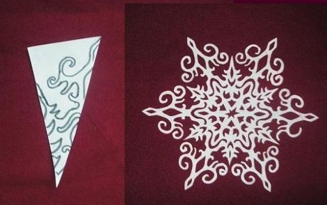 Как из бумаги сделать снежинки красивые